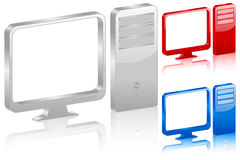 3D computer symbol Stock Images
