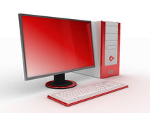 3d computerrood stock illustratie
