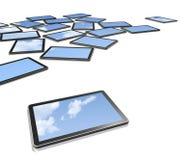 3D computers, de schermen van TV vector illustratie