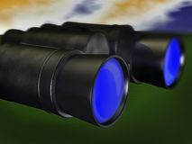3d concept binocular Royalty Free Stock Photography