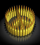 3d concept of bullets. 3d concept illustration - peace and war with bullets Stock Photos