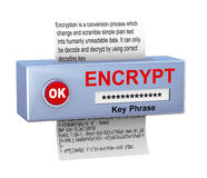 3d concept of data encryption process Stock Images