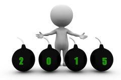 3d concept de bombes de l'homme 2015 Photos libres de droits