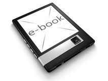 3d concept e-book gadget on white background Royalty Free Stock Photography