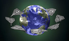 3d concept earth and the money Royalty Free Stock Image