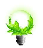 3D Concept Eco - Milieu Gloeilamp Stock Fotografie