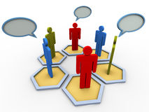 3d concept of group discussion Royalty Free Stock Photos