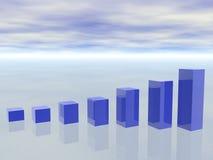 3d concept het kweken van BedrijfsGrafiek stock illustratie