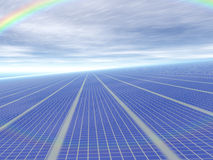 3d concept infinite solar panels Stock Photo