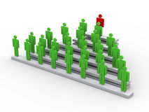 3d concept of leader and leadership Stock Image