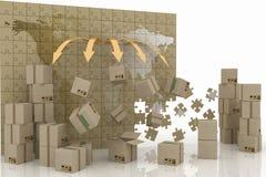 3d concept logistisch Royalty-vrije Stock Afbeeldingen
