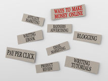 3d concept of making money online Royalty Free Stock Photography