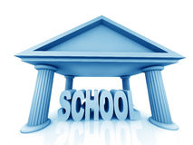 3d concept of school Royalty Free Stock Photography