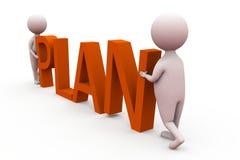 3d concept van het mensenplan Stock Fotografie