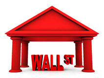3d concept of Wall Street. Isolated 3d concept of Wall Street Stock Photography