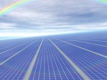 3d concepten oneindige zonnepanelen Stock Foto