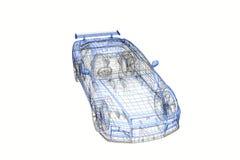 3d conceptenmodel van modern autoproject stock illustratie