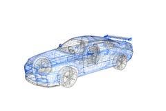 3d conceptenmodel van modern autoproject royalty-vrije illustratie