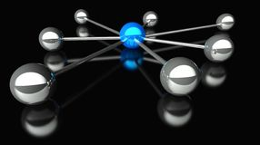 3d conception of network and communication. Abstract conception of network and communication 3d Stock Photography