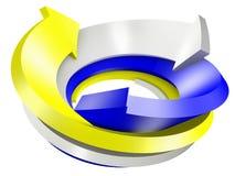 3d conceptual rendeu a imagem da seta Fotos de Stock Royalty Free