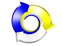 3d conceptual rindió la imagen de la flecha Foto de archivo