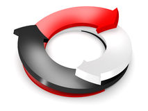 3d conceptuel a rendu l'image de la flèche Image stock