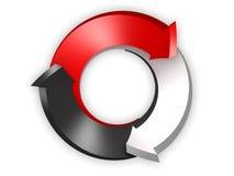 3d concettuale ha reso l'immagine della freccia Fotografia Stock