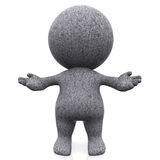 3D concrete person Royalty Free Stock Images