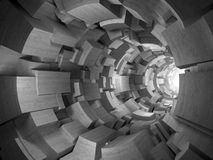 3D concrete tunnel Stock Image
