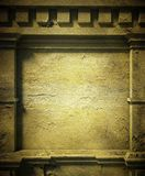 3d concrete wall, antique architecture background Stock Photos