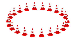 3D cones red white 05 Royalty Free Stock Images