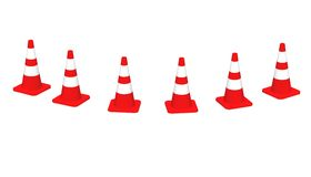 3D cones red white 07 Stock Images
