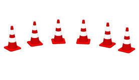 3D cones red white 17 Royalty Free Stock Photo