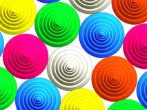 3D - Configuration colorée de boutons Image stock