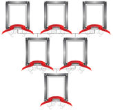 3D Connected Frames Stock Photos