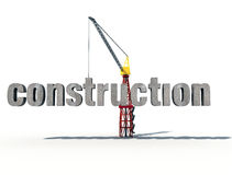 3d construction. Logo on white background Royalty Free Stock Photos