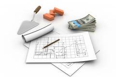 3d Construction concept Stock Photo