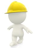 3D construction worker Royalty Free Stock Photography