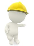 3D construction worker Royalty Free Stock Photos
