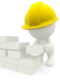 3D construction worker Stock Photography