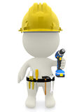 3D construction worker Royalty Free Stock Photo