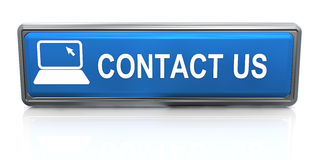 3d contact us button Stock Photo