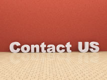 3d contact us room Royalty Free Stock Photography