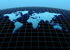 3d continenten Royalty-vrije Stock Afbeeldingen