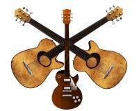 3d cool gitarę Obrazy Royalty Free