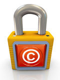 3d copyright padlock Royalty Free Stock Photography