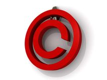 3d copyright sign Stock Photos