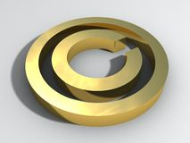 3d copyright sign. For business stock illustration