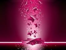 3D cor-de-rosa Stars o fundo Fotografia de Stock Royalty Free