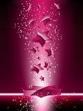 3D cor-de-rosa Stars o fundo ilustração do vetor